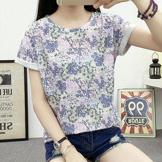 Patterned Short Sleeve T-shirt