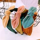 Color Panel Bow Headband