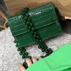 Faux Leather Shoulder Bag Emerald - One Size