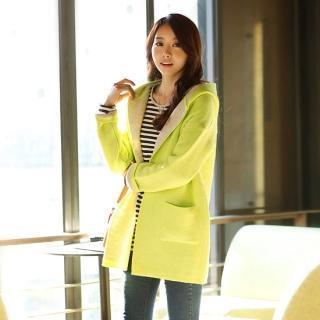 Open-front Hooded Long Cardigan
