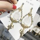 Rhinestone Angel Drop Earring As Shown In Figure - One Size