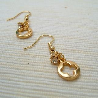Gold Charming Earrings Gold - One Size