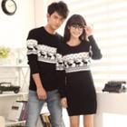 Couple Printed Sweater / Printed Knit Dress