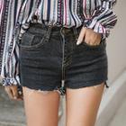 Fray-hem Stitched Shorts