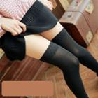 Fleece-lined Mock Hold Up Tights