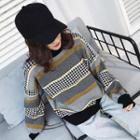 Houndstooth Pattern Sweater As Shown In Figure - One Size