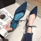 Faux Suede Pointed Slingback Pumps