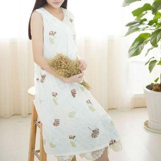 Sleeveless Embroidery Lace Dress