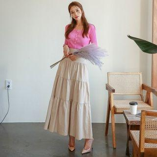 Tiered Maxi Cancan Skirt