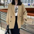 Double-breasted Blazer Almond - One Size