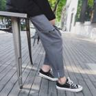 Regular-fit Cuffed Cotton Pants