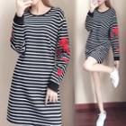 Pullover Striped A-line Dress