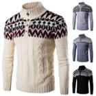 Cable-knit Patterned Sweater