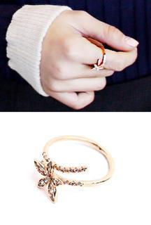 Flower Rhinestone Ring