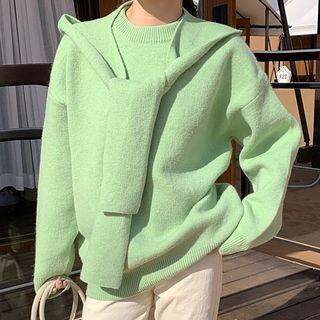 Plain Sweater / Knit Scarf
