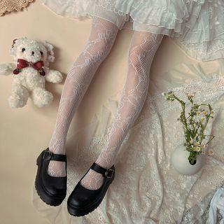 Lace Stockings White - One Size