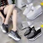 Platform Wedge Mesh Sandals