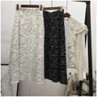 Pattern Printed Midi Chiffon Skirt