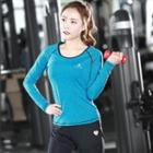 Long-sleeve Printed Sport Top