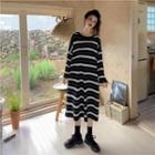 Oversized Striped T-shirt Dress Stripe - One Size