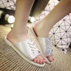 Lace-up Slide Sandals
