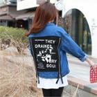 Appliqu -back Denim Jacket