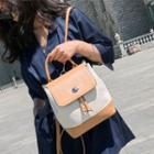 Two-tone Flap Backpack