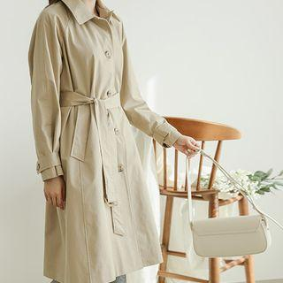 Single-breasted Belted Trench Coat