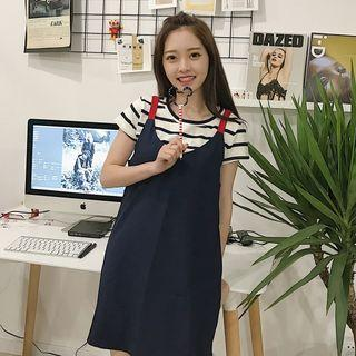 Short-sleeve T-shirt / Pinafore Dress