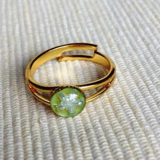 Resin Little Snowflake Ring (light Blue) One Size
