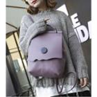 Buttoned Flap Backpack