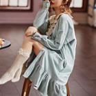 Printed Long Sleeve Sleep Dress