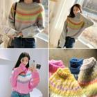Crewneck Nordic Pattern Sweater