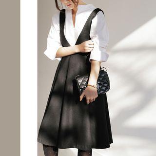Plain A-line Jumper Dress