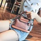 Top Handle Transparent Crossbody Bag With Pouch