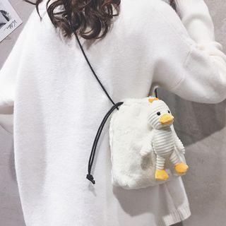 Doll Charm Furry Crossbody Bag