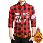 Lettering Checked Shirt