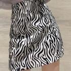 Printed Mini A-line Skirt As Shown In Figure - One Size