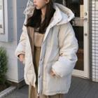 Drawstring Padded Hooded Jacket