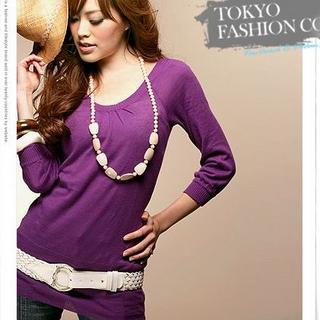 3/4-sleeve Knit Top