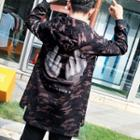 Printed Camo Hooded Coat