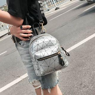 Geometry Patterned Backpack