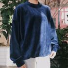 Mock-neck Velvet Pullover