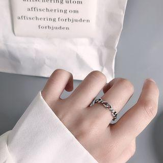 925 Sterling Silver Chain Open Ring 925 - As Shown In Figure - One Size