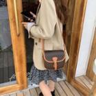 Mini Buckled Flap Crossbody Bag