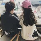 Couple Matching Cat Printed Knit Top