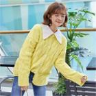 Cable-knit Lightweight Cardigan