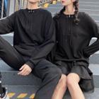 Couple Matching Ruffle Hem Hoodie Dress / Hoodie