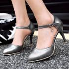 Ankle-strap High-heel Pointed Toe Sandals