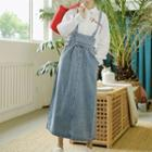 Midi Denim Jumper Skirt